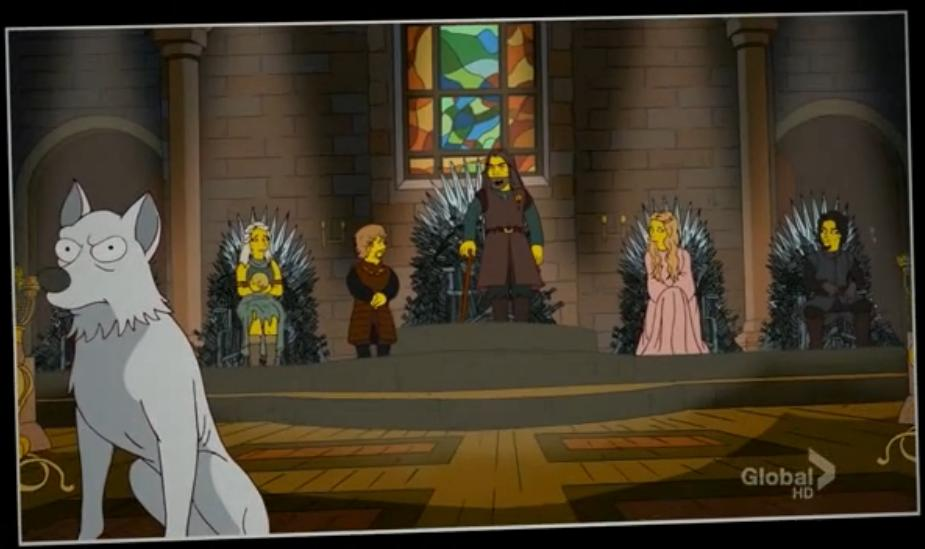 game of thrones The Simpsons Parody HBO, Game of Thrones
