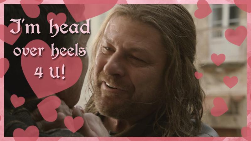 Schön Game Of Thrones Valentine Cards Ned