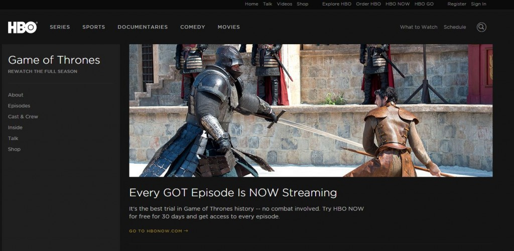 Stream Game Of Thrones Free